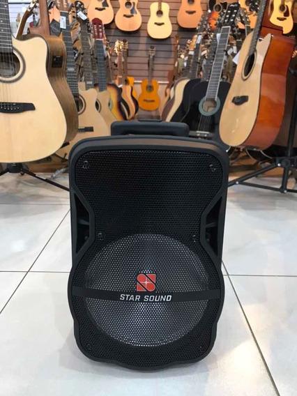Caixa De Som Com Bateria E Rodinha Star Sound Ss100 10