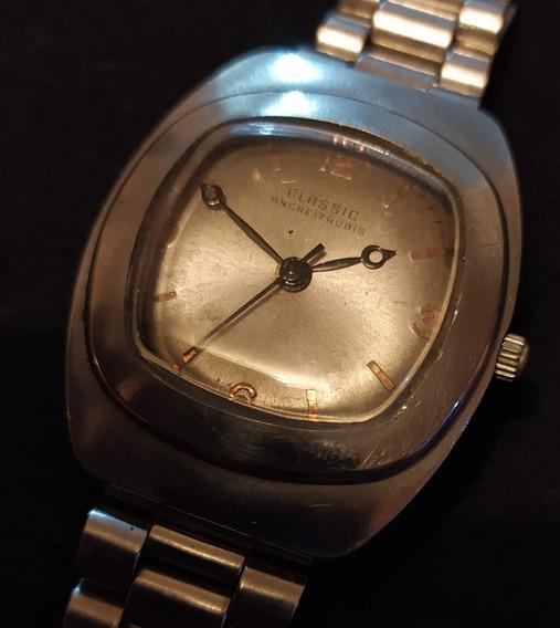 Relógio Classic Antigo À Corda - Coleção