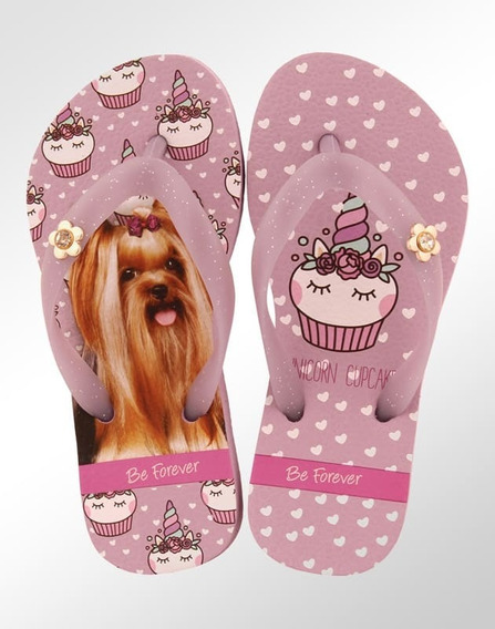 Chinelo Infantil Rafitthy Be Forever York Unicórnio Cupcake