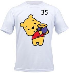 Camiseta Infantil Personalizada Ursinho Pooh