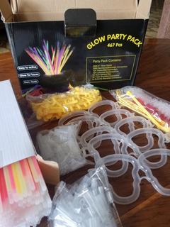 Combo Neon Hora Loca Eventos Galos Party Pack 467 Piezas