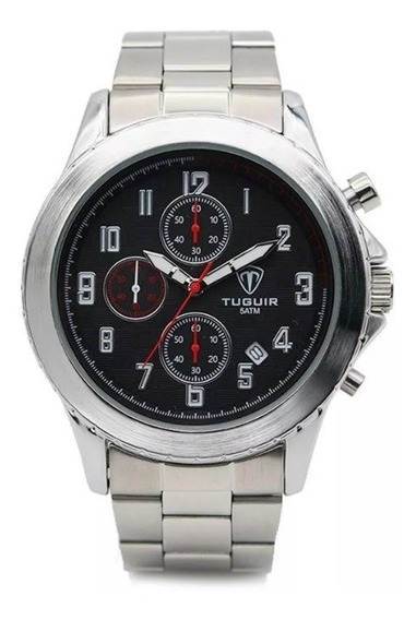 Relógio Masculino Tuguir 5056 Cronógrafo Analógico Anadigi Funcional Original Prova D´água Original Luxo Com Nota Fiscal