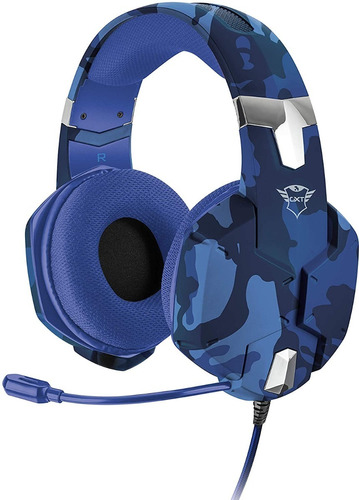 Headset Gamer Gxt 322b Azul Compatível Com Ps4, Xbox, Pc