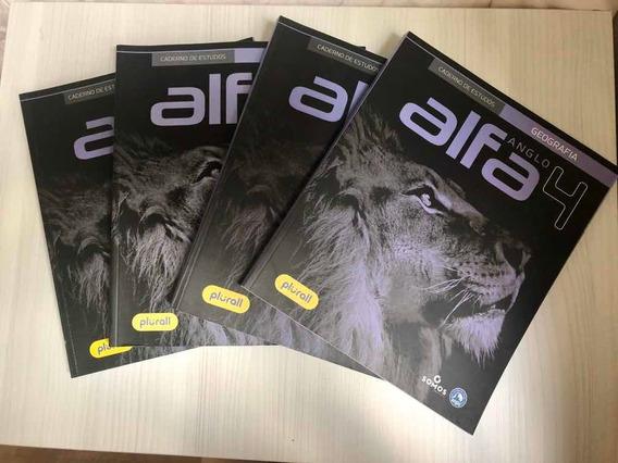 Cadernos De Estudo Geografia - Anglo Alfa Volumes 1,2,3 E 4