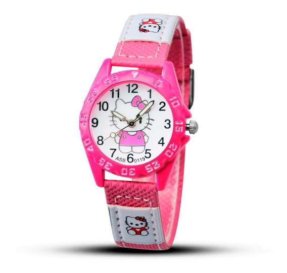 Relógio Infantil Feminino Hello Kitty Original Em Promoção