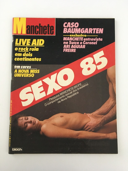 Revista Manchete Caso Baumgarten - 27 Julho 1985 Nº 1736