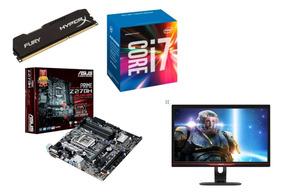 Pc Gamer I7 7700+ Gtx 1060 3gb +monitor 144 Hz 1 Ms