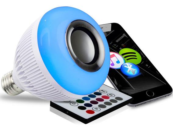 Lampada Bluetooth De Led Caixa De Som C Controle 12w Rgb