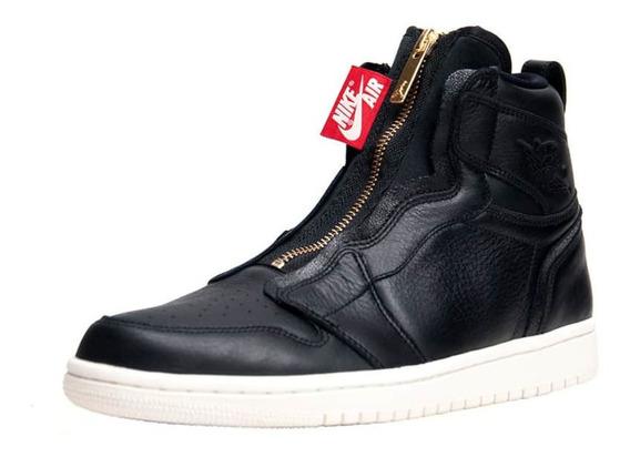 Tenis Nike Air Jordan 1 High Zip Black