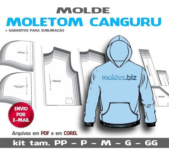 Moletom Canguru Moldes Em Pdf E Em Cdr(corel)