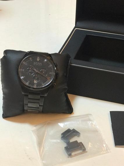 Relógio Hugo Boss Preto Em Aço Original