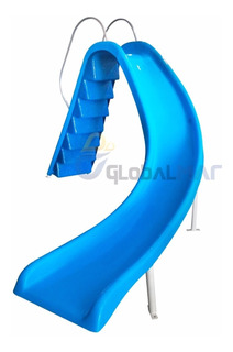 Escorregador Piscina Gigante 3,2m Pista Curva Toboágua 110kg