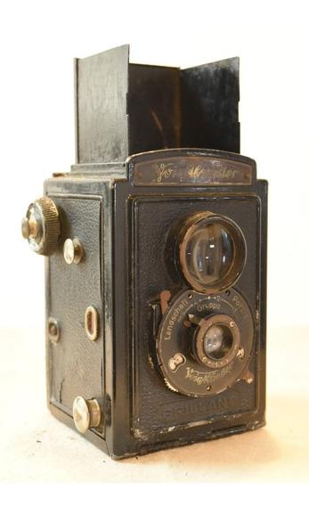 Câmera Tlr Antiga Vintage Voigtlander Brillant