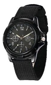 Reloj Analogo De Pulsera Tactico Militar Negro Hombre H9034