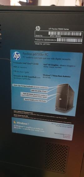 Computador Hp Completo (incluido Webcam)