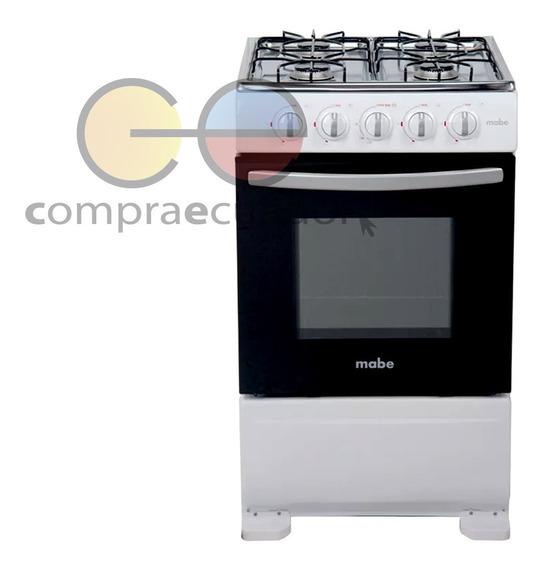 Mabe Cocina 4 Quemadores Gas 51cm Inoxidable Blanca 5105e
