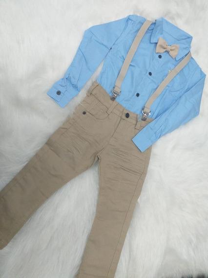 Camisas Masculinas Calça Suspensório E Gravata