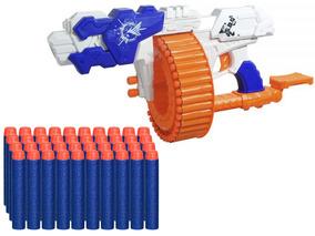 Lançador Pistola Super Shot Turbo Stilo Nerf 40 Dardos