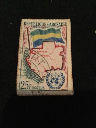 Imagen 1 de 2 de Timbre Postal Republique Gabonaise