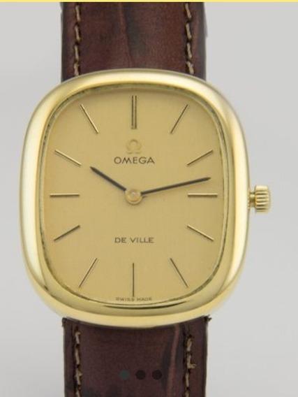 Relógio Omega De Ville Quadrado Em Ouro 18k
