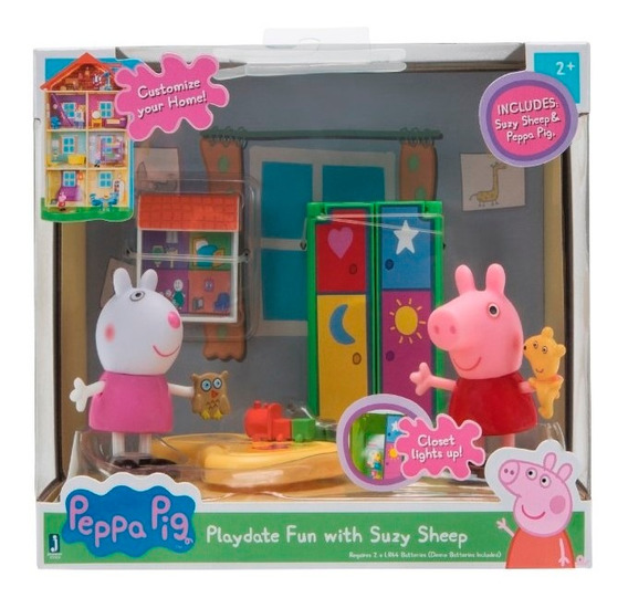 Peppa Pig - Suzy Oveja Con Peppa Habitaciones De La Casa