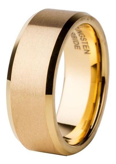 Par Aliança Tungstênio 8mm Chanfrada Casamento Noivado