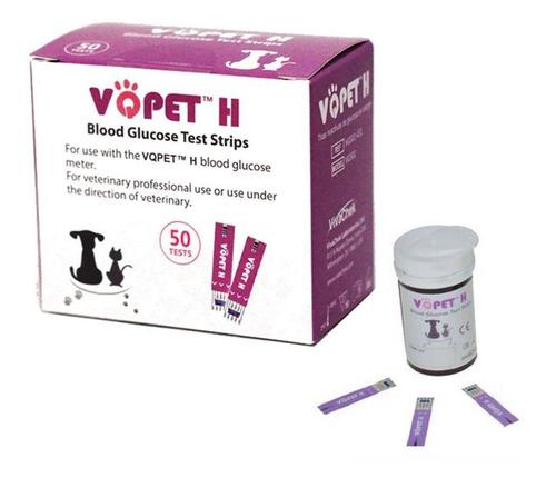 Imagen 1 de 6 de 50 Tiras Para Glucometro Vqpet Veterinario