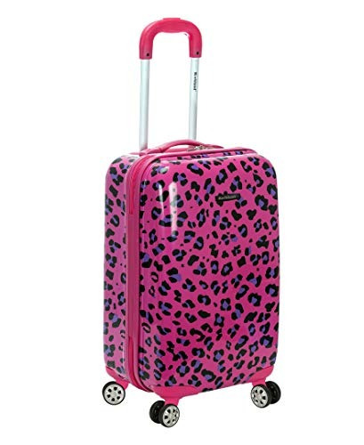 Rockland 20 X26quot Carry On Skin, Magenta Leopard, One Siz