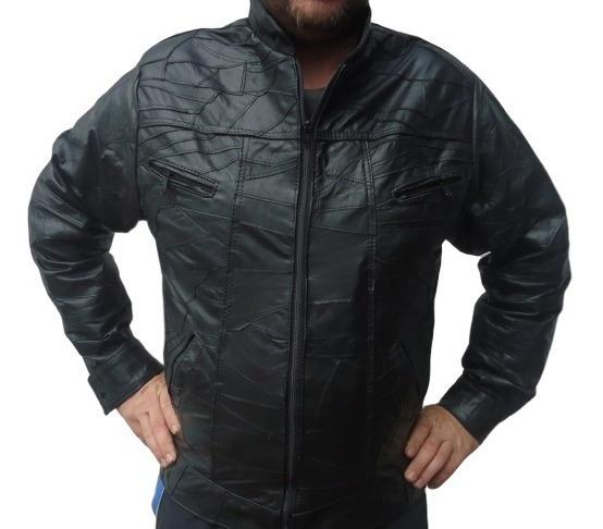 Jaqueta Couro Legítimo Masculino Em Retalhos. Fabricante