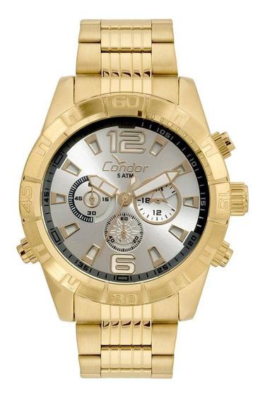 Relógio Condor Masculino Civic Dourado Covd54aw/4k