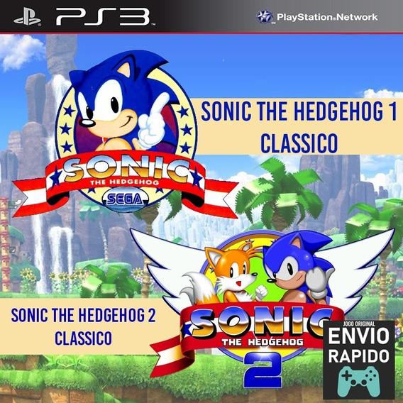 Sonic The Hedgehog 1 E 2 Classico - Jogos Ps3 Playstation 3