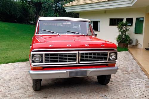 Imagem 1 de 10 de Ford F100 1972 72 V8 - Cabine Luxo - Placa Preta