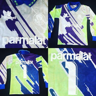 Camisa Palmeiras 1993 #1 Pintado Goleiro Manga Longa Tam 8