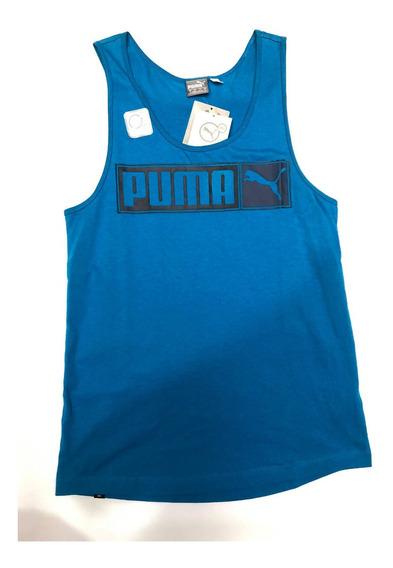 Playera Puma De Resaque Logo Tank Tt4395 Color Azul