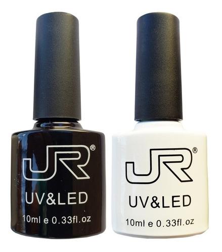 Imagen 1 de 1 de 2 Gel Jr Blanco Y Negro Semipermanente Uñas Aplica Pigmentos