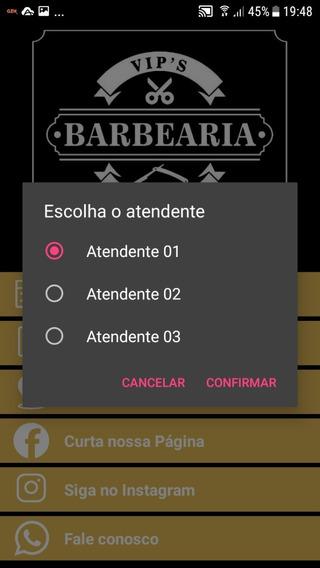 Aplicativo Para Agendamento De Atendimento Barbearia, Salão De Beleza.