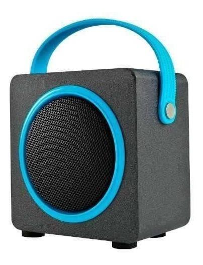Bocina Inalambrica 10 M Bluetooth Negra Y Azul Mitzu