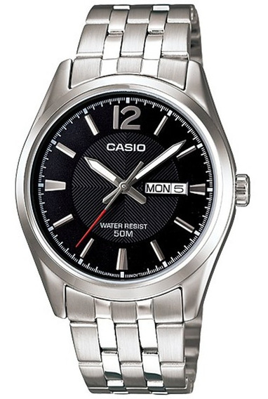 Reloj Casio Mtp-1335d-1av, Acero, Doble Fecha, Natacion
