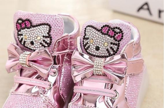 Tenis Led Hello Kitty 3 Cores - Veja O Vídeo No Anúncio