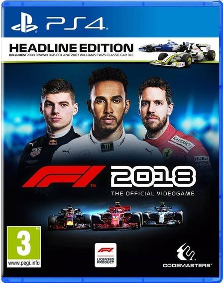 Ps4 F1 2018 Headline Edition Novo Lacrado