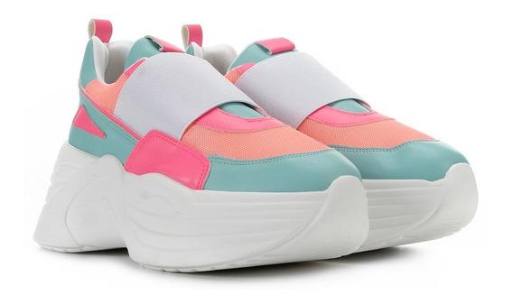 Tênis Chunky Sneaker Feminino Flatform Neon Zatz Damannu