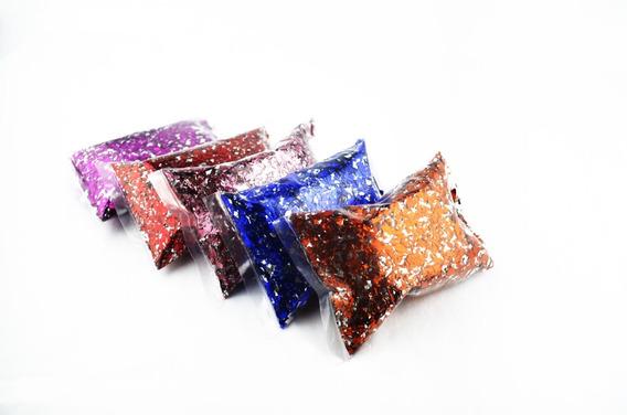 Confeti Mini Metálico 10 Bolsas De 10 Gramos De Colores
