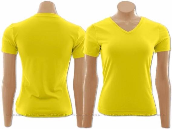 20 Camisas Gola V Sublimação Branca E Cores - 100% Poliéster