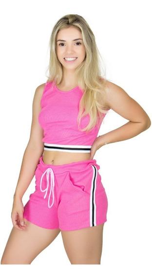 Kit 10 Cropped Ribana Com Listra Blogueira Moda Verão