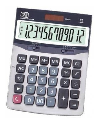 Calculadora Neo One 1753 12 Digitos Solar Y Bateria