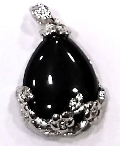 Lindo Pingente De Obsidiana Pedra Natural De Qualidade Tuc1