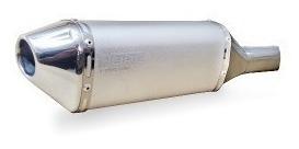Escape Ponteira Aluminio Dore + Curva Inox Twister - Prata