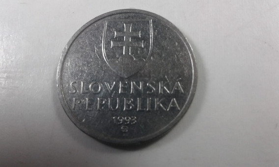 Moneda De Eslovaquia 1993-5 Coronas - V.f.