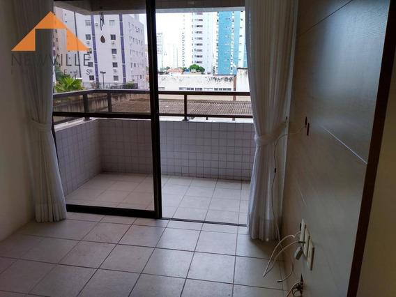 Apartamento Com 2 Quartos Para Alugar, 55 M² Por R$ 1.600/mês - Boa Viagem - Recife/pe - Ap1735
