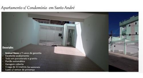 Pq N Oratório Santo André, Apto Sem Cond, 2 Dorms, 1 Vg, 56 M², Semi Mobiliádo. - 55682